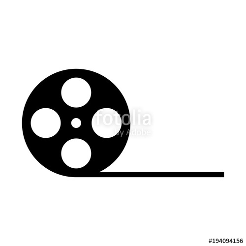 500x500 Film Reel Vector Icon Stock Image And Royalty Free Vector Files