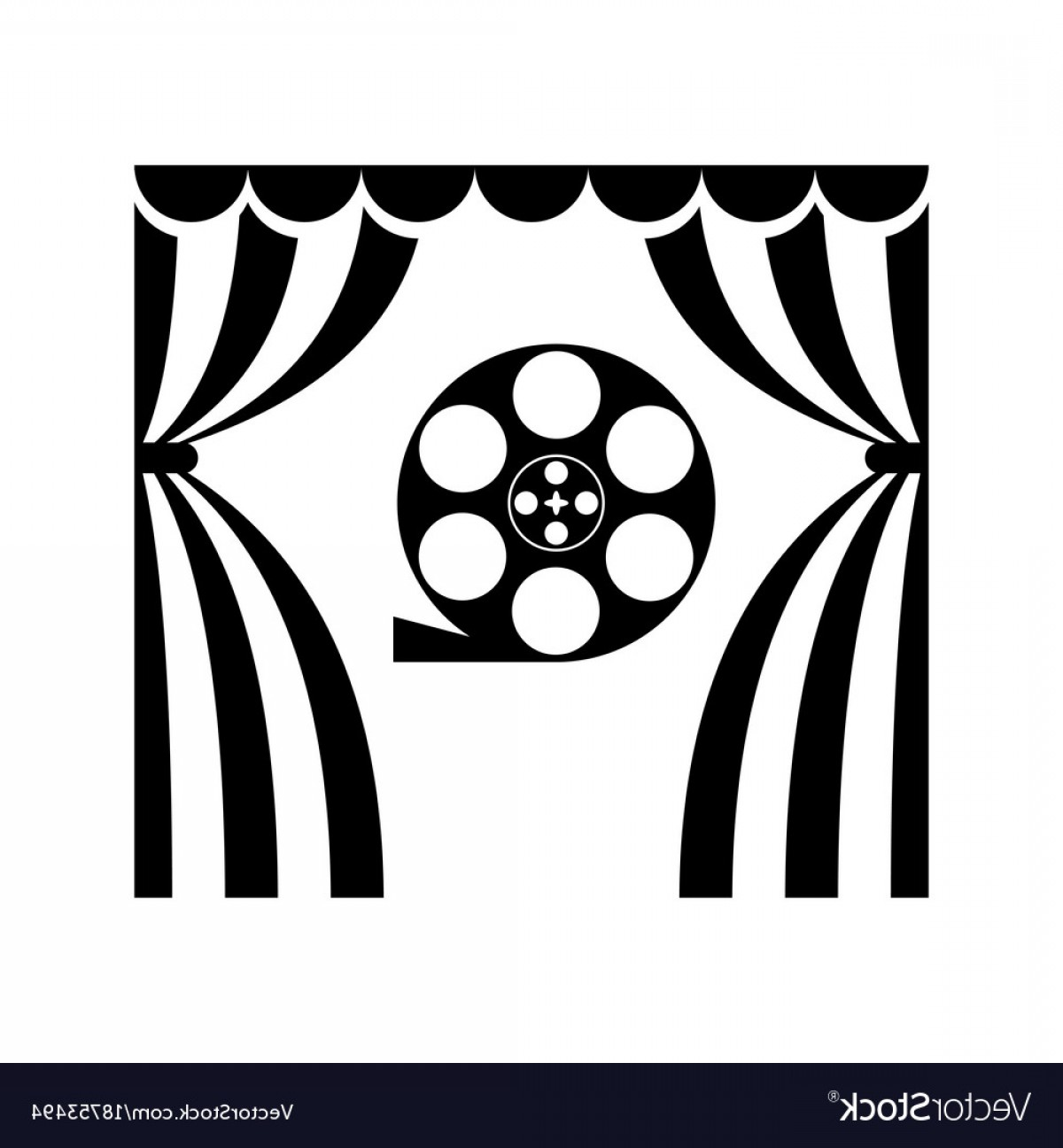 1200x1296 Black And White Film Reel Vector Arenawp