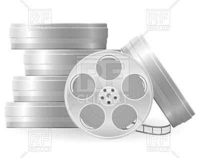 400x316 Metallic Movie Film Reel Vector Image Vector Artwork Of Objects