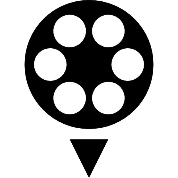 626x626 Free Film Reel Icon Black And White 334999 Download Film Reel