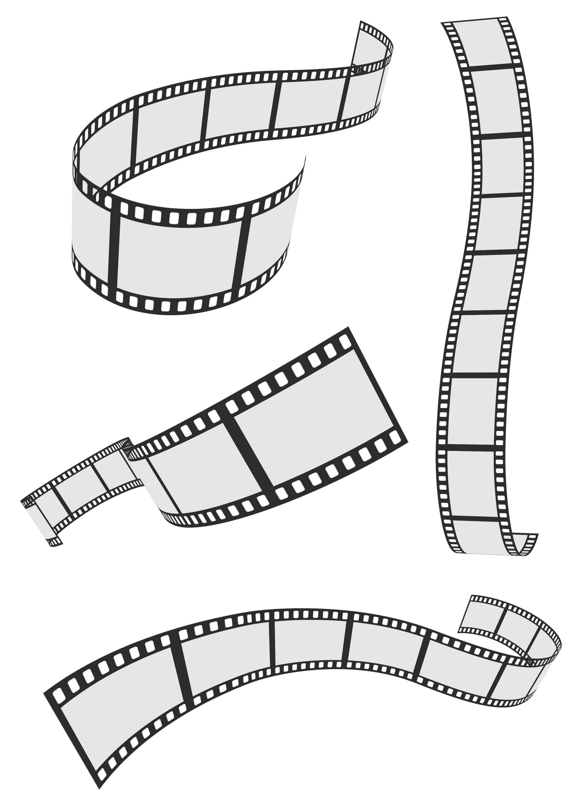 2000x2751 Film Strip 4 Roll Set Vector [Eps File] Vector Eps Free Download