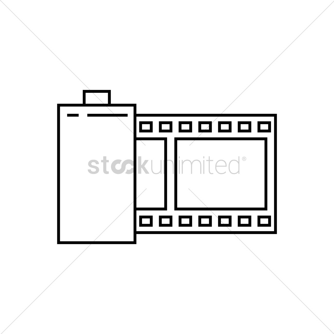 1300x1300 Film Roll Vector Image