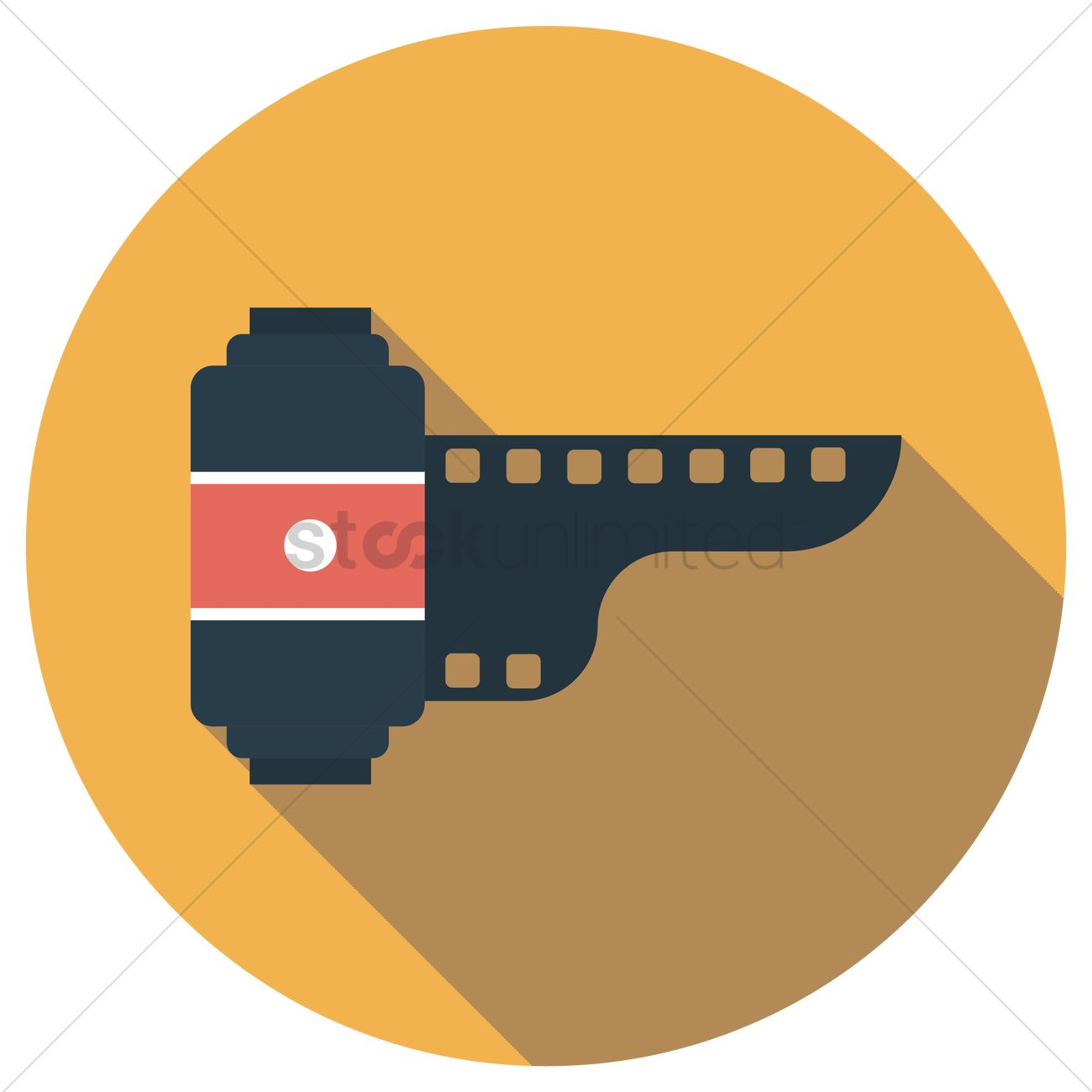1300x1300 Free Film Roll Vector Image