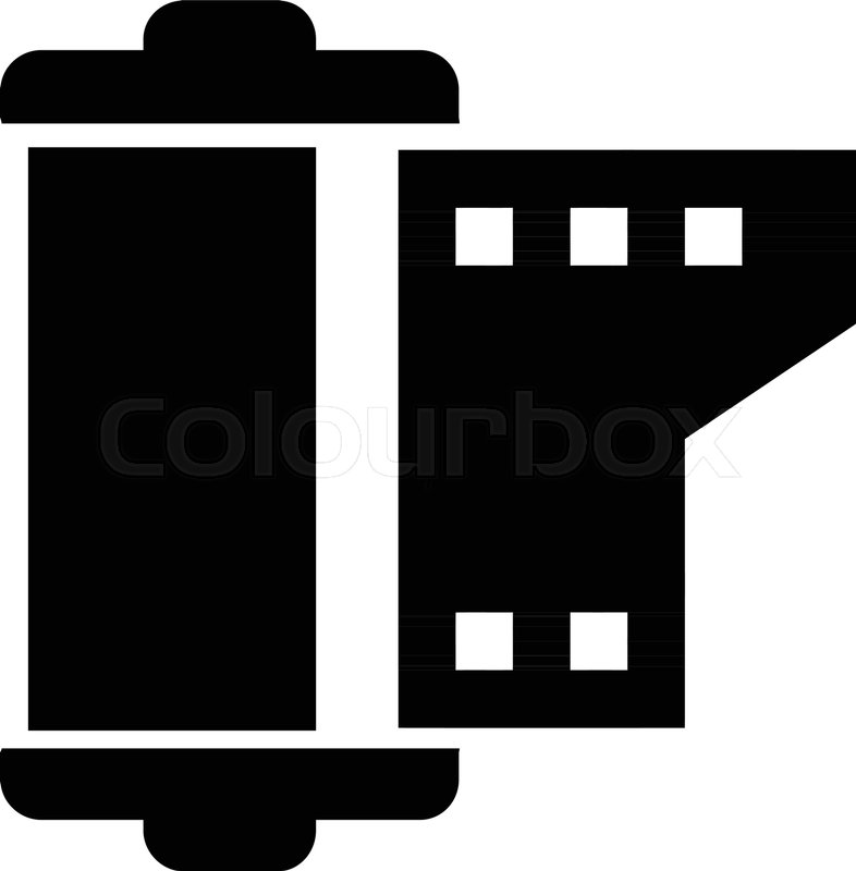 786x800 Negative Film Roll Stock Vector Colourbox
