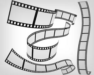 300x240 Stock Vector Film Strip 4 Roll Set