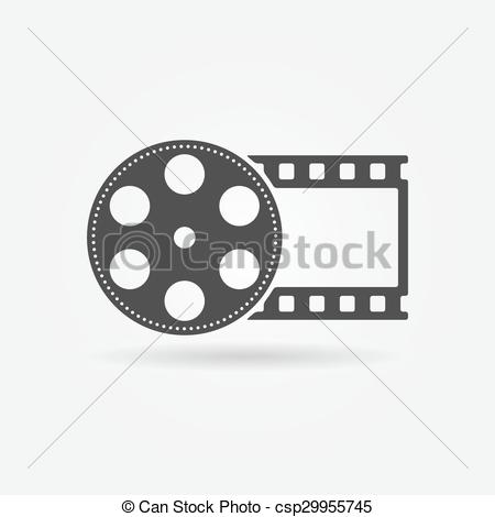 450x470 Black Film Roll Logo Or Icon. Film Roll Logo