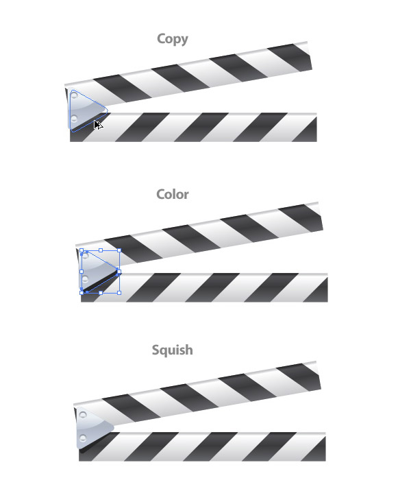 600x697 Create A Vector Film Slate Icon