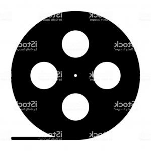 300x300 Film Premiere Poster With Film Reels And Film Slate Vector Clipart