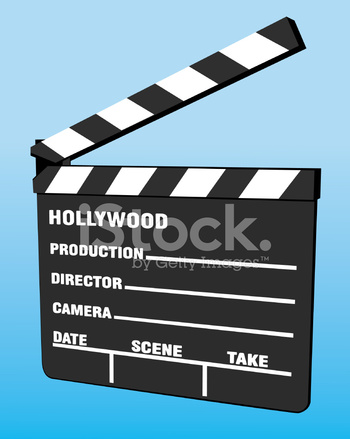 350x439 Film Slate Stock Vector
