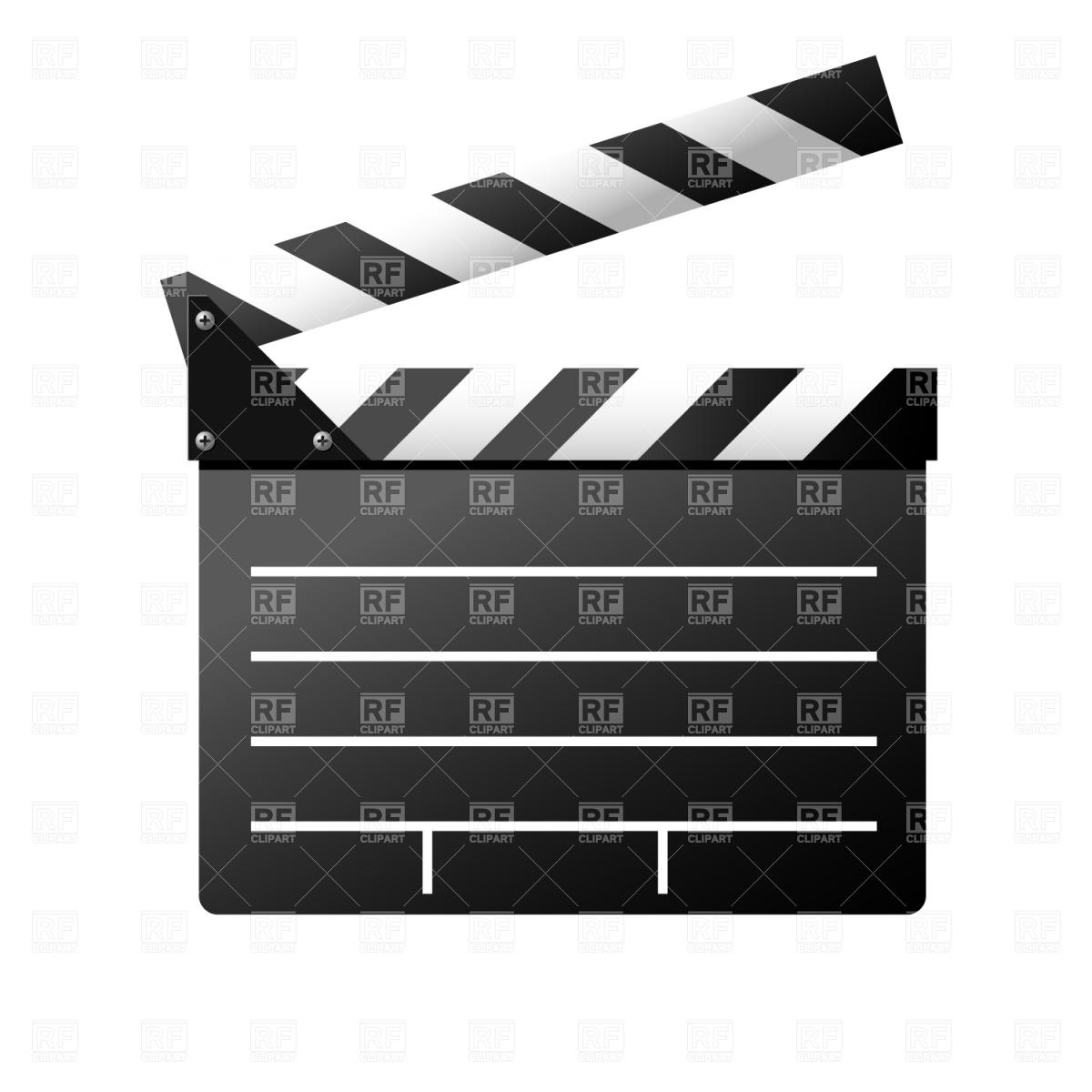 1200x1200 Film Slate Vector Image Vector Artwork Of Objects Prague