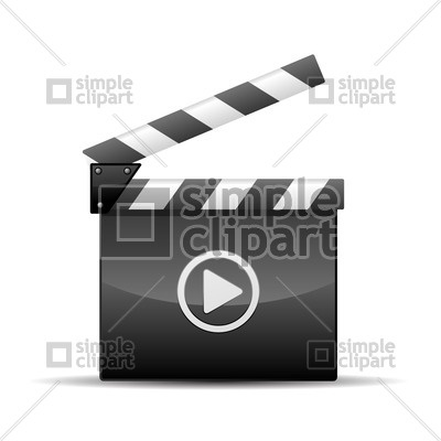 400x400 Player Icon Film Slate Vector Image