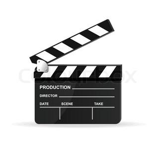 320x305 Vector Chalkboard Movie Director Slate Stock Vector Colourbox