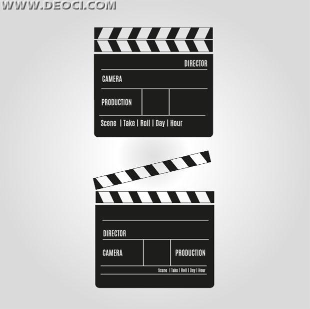 620x617 Vector Film Slate Download