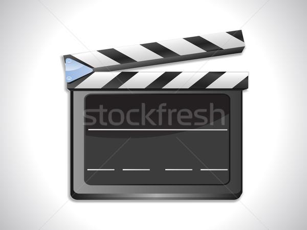 600x450 Blank Film Slate Ciak On Landscape Background Vector Illustration