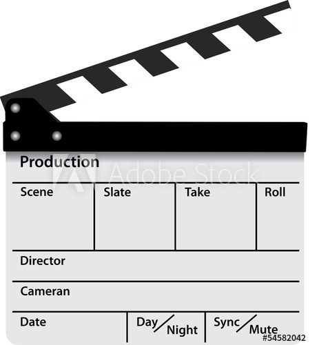 450x500 Cinema Film Clapper Slate Vector Production