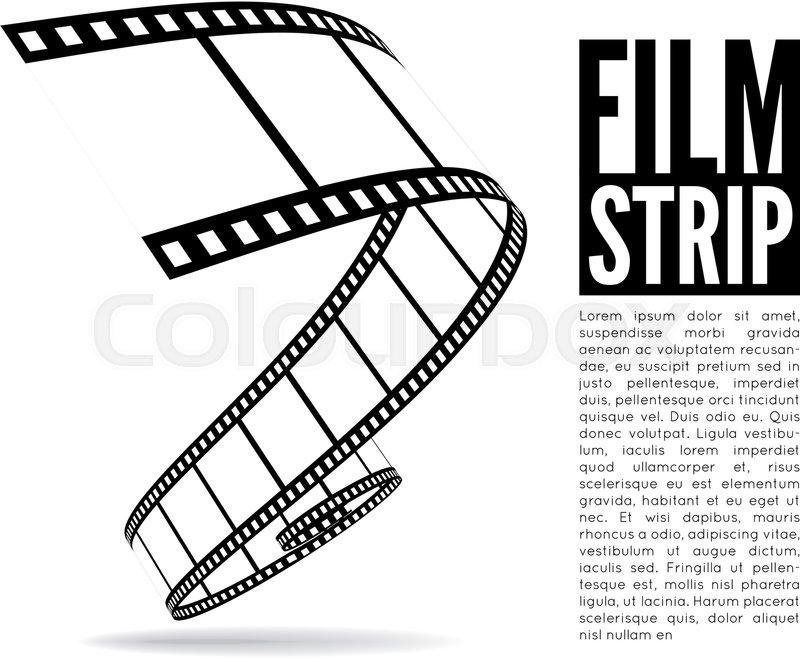 800x658 Film Strip Vector Illustration On White Background Stock Vector