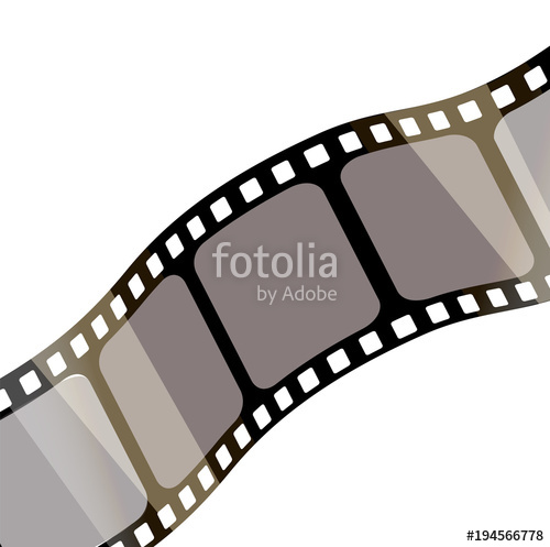500x497 Isolated Film With White Background, 3d Rendering. 3d Film Strip