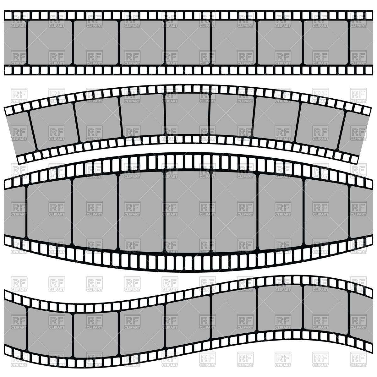 1200x1200 Set Of Film Strips Vector Image Vector Artwork Of People