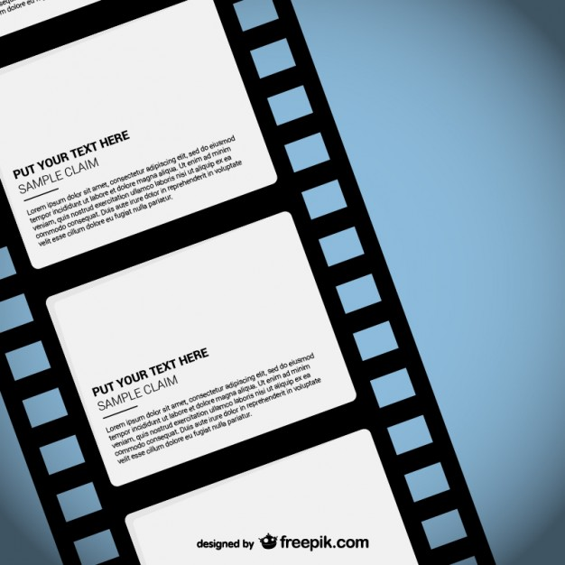 626x626 Film Strip Template Vector Free Download
