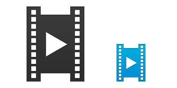 600x300 Filmstrip Icon Vector Psd Psd Icons