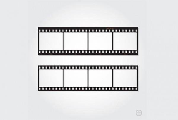 600x404 2 Photography Film Strip Vector Template Set