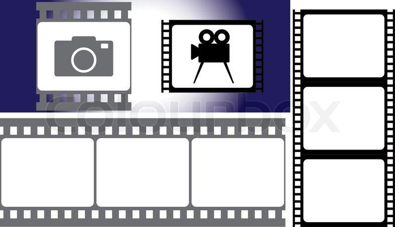800x460 Photographic Film. Vector Illustration For Designers Stock