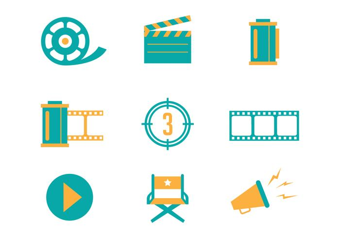 700x490 Cinema And Film Vector Icons
