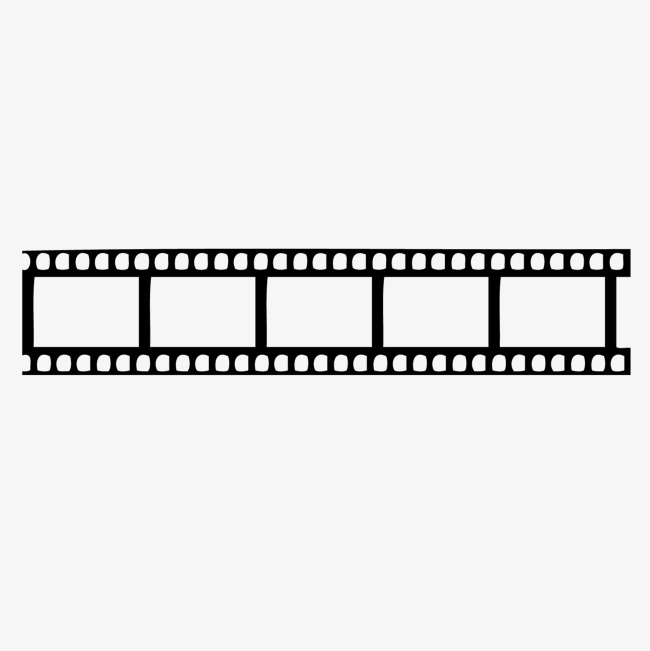 650x651 Vector Black Crossing Silhouette Film Border, Black Vector
