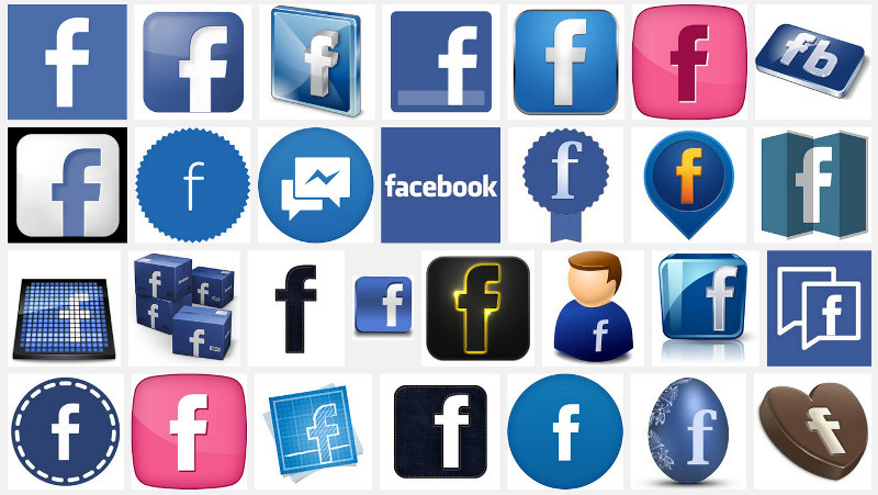 800x451 Find Us On Facebook Icon Vector