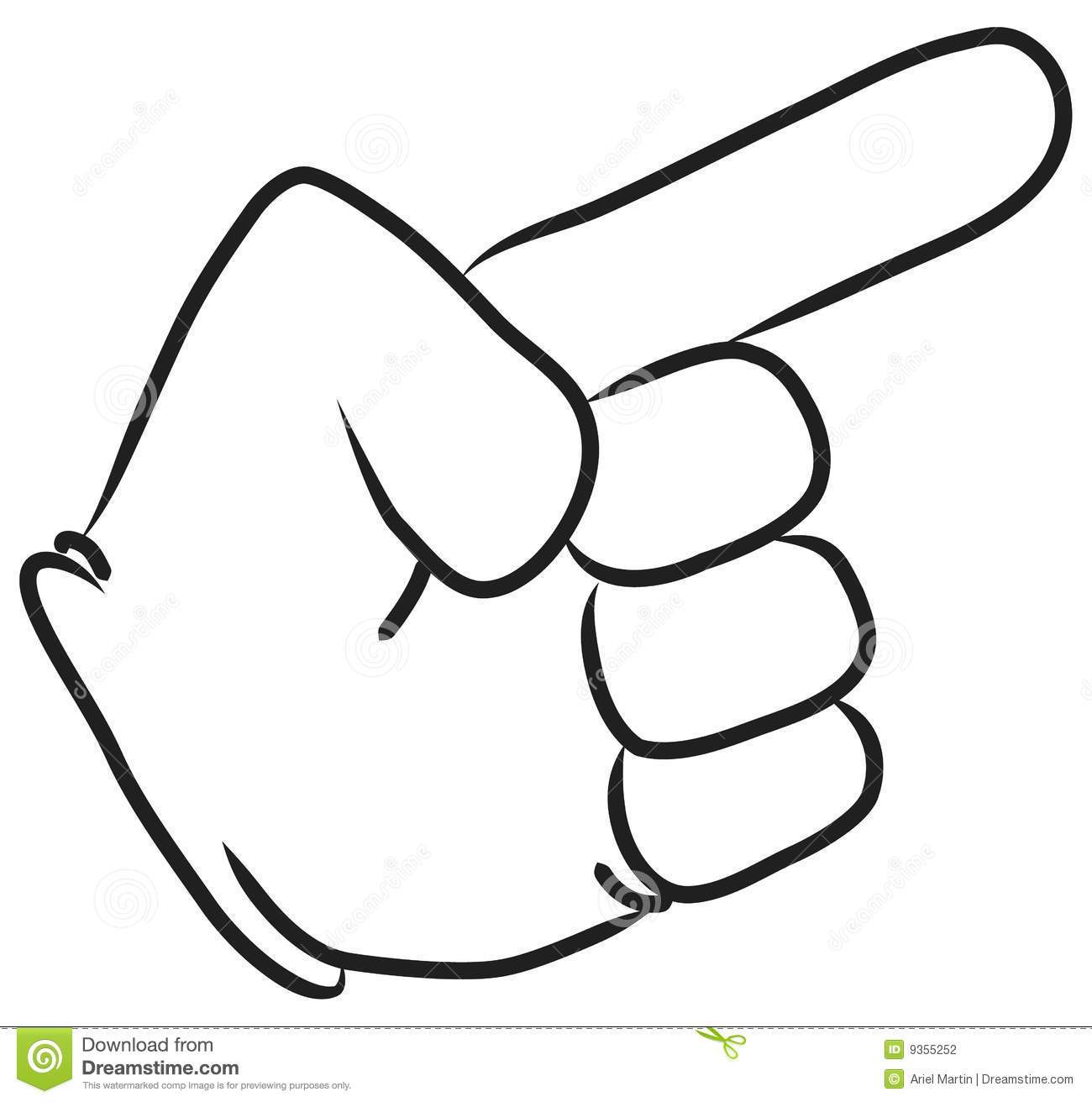 1300x1312 Finger Pointing Down Clipart