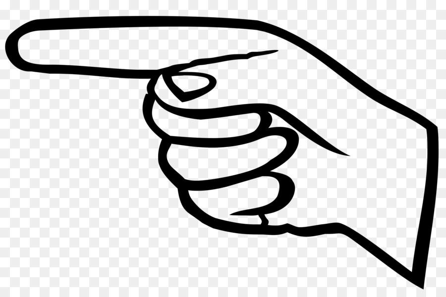900x600 Point Index Finger Clip Art