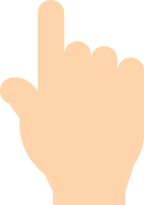 210x299 Pointing Finger Clip Art