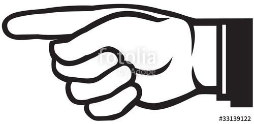 500x244 Pointing Hand (Point Finger) Stock Image And Royalty Free Vector