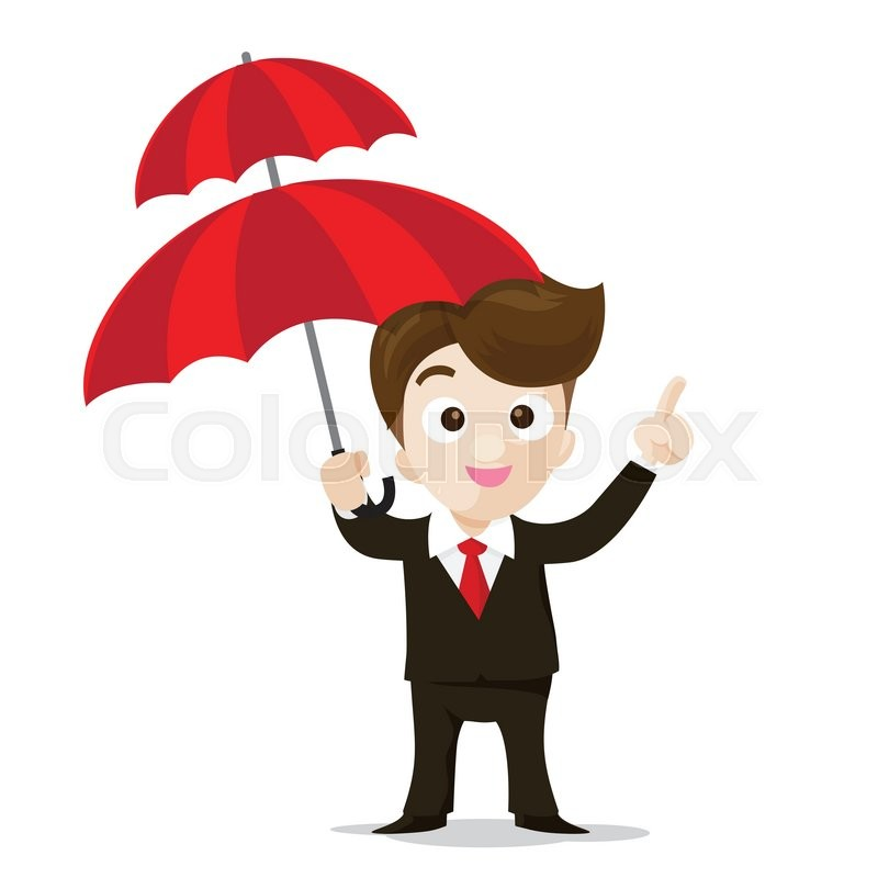 800x800 Business Protection Concept Business Man Cartoon Smile Showing The