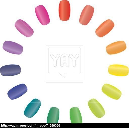 512x510 Nail Rainbow Vector