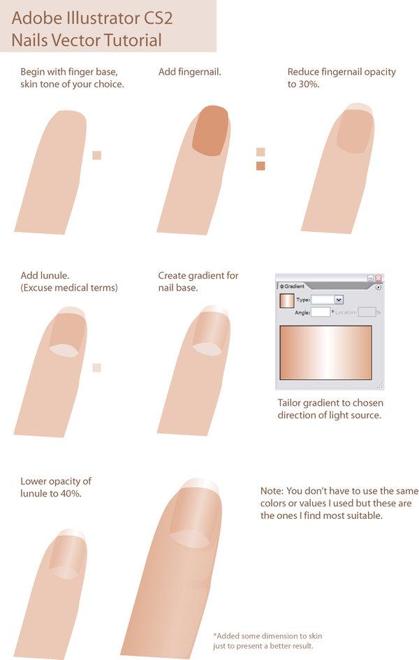 600x945 Vector Tutorial Nails By Taho
