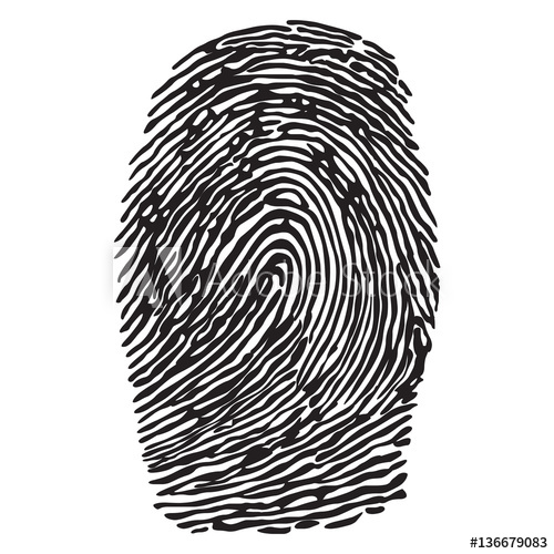 500x500 Black Silhouette Of Fingerprint Vector Illustration Fingerprint