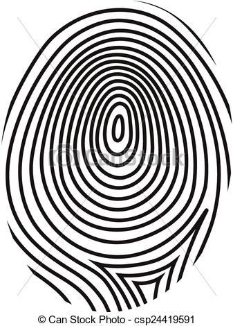 337x470 Fingerprint Vector . Black Drawing Vector Fingerprint On White