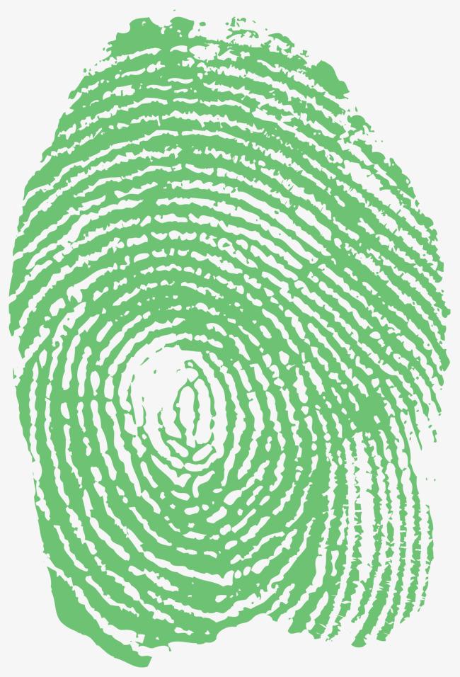 650x956 Green Fingerprint Vector, Green Vector, Fingerprint Vector