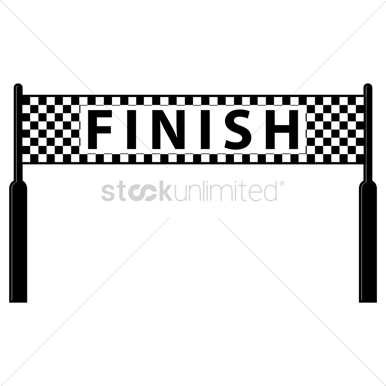 1300x1300 Finish Line Vector Image