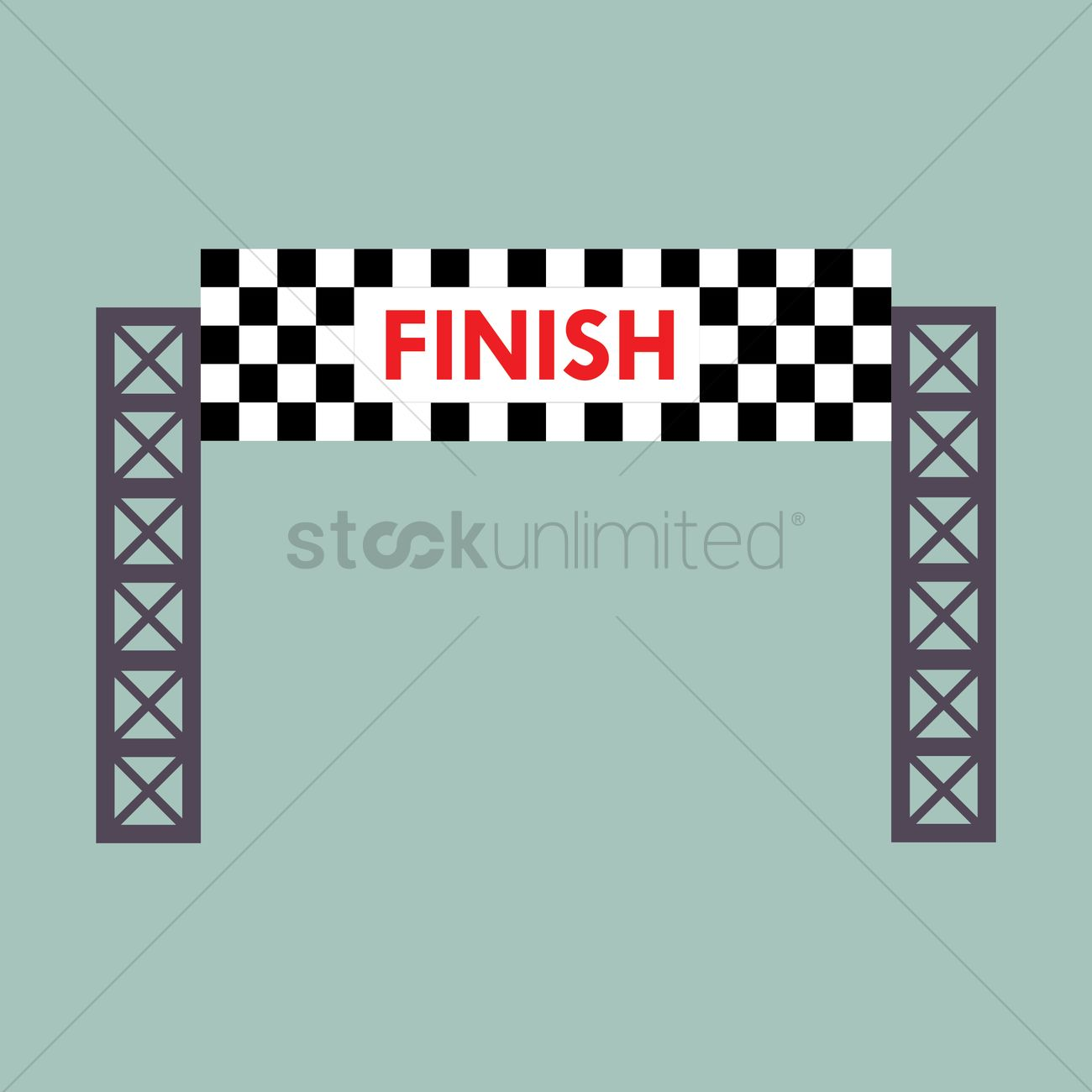 1300x1300 Finish Line Banner Vector Image