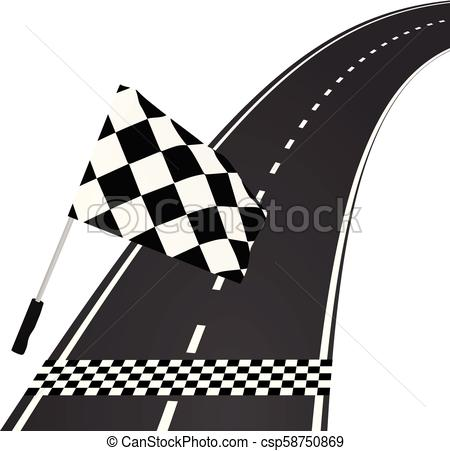 450x451 Finish Line. Vector Illustration.