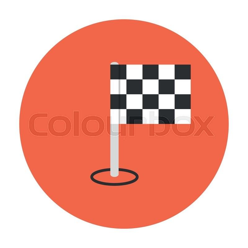 800x800 Finishing Flag Icon. Competition Symbol. The Finish Line Stock