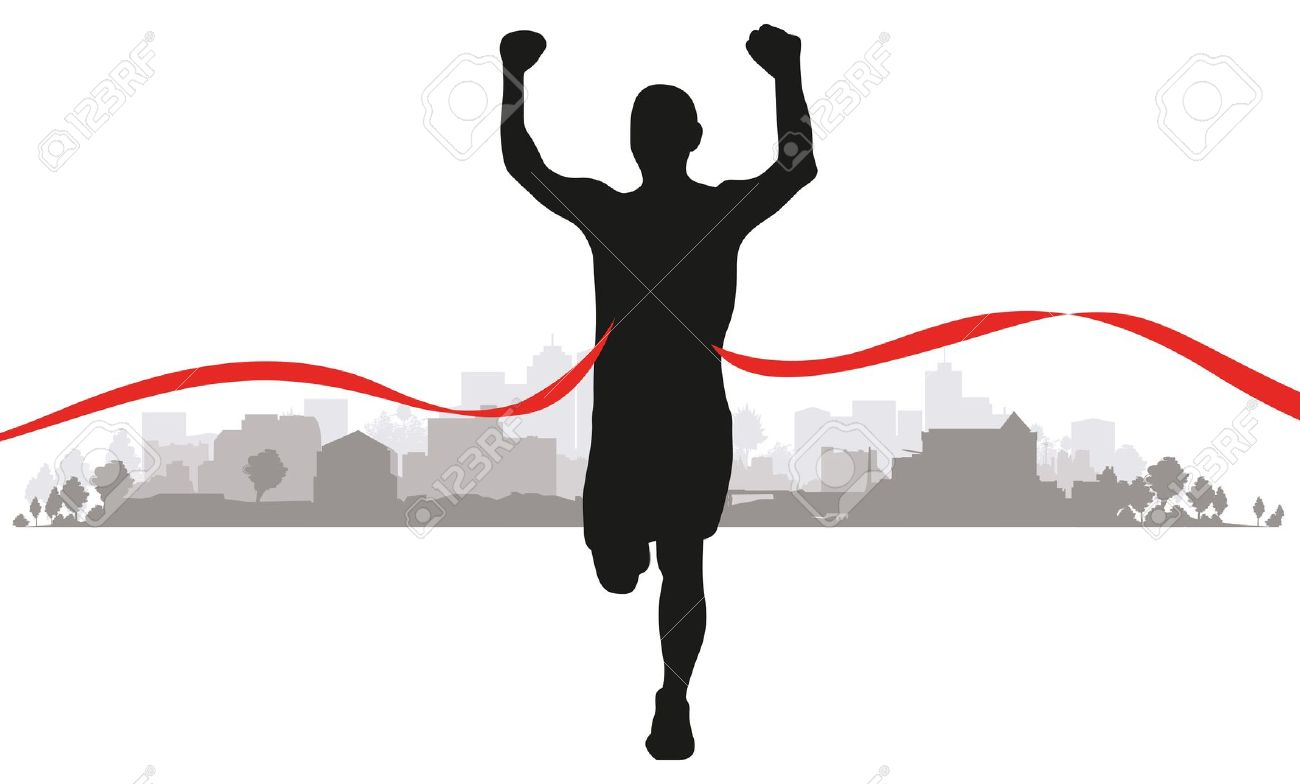 1300x784 Images Of Clipart Runner By A Finish Line
