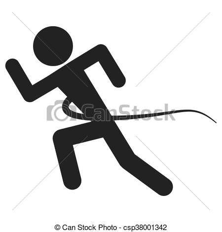 450x470 Simple Silhouette Of Person Running Into Finish Line Vector