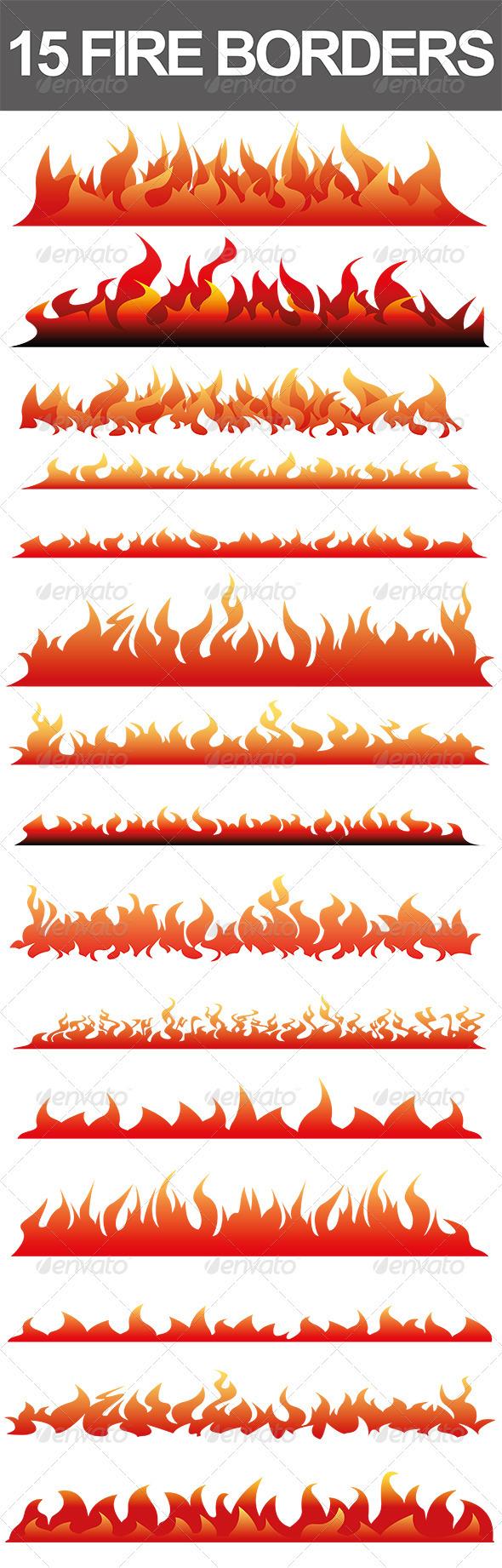Fire Border Vector