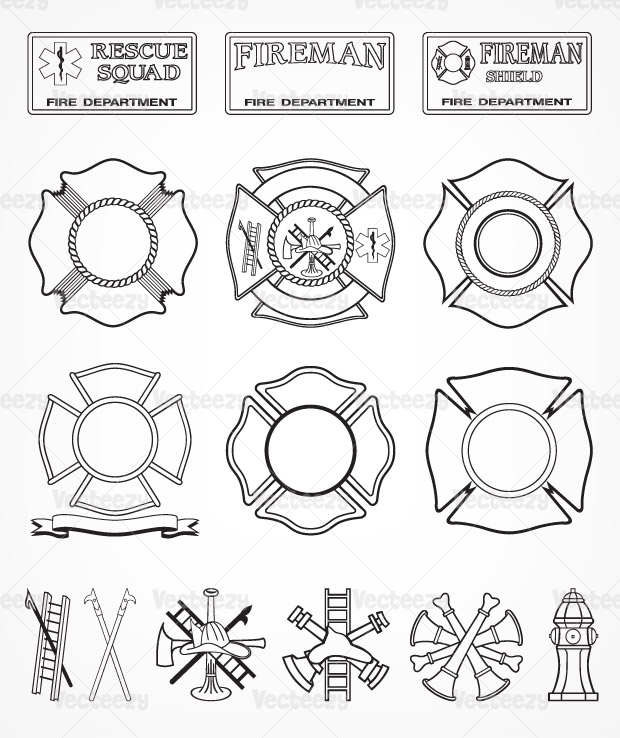Fire Department Badge Vector