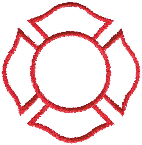 Fire Department Maltese Cross Vector
