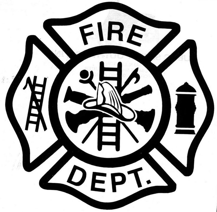 Fire Department Maltese Cross Vector Free