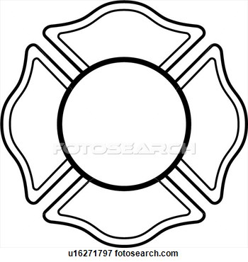 350x370 Free Fire Department Maltese Cross Clipart